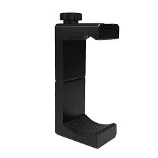 BGNING Rotating Locking Aluminum Phone Clip Double Hole Photography Hot Shoe Clip Suitable for Tripod, Selfie Stick Horizontal Vertical Photo Accessories