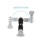 BGNING Universal Adjustment Arm Metal Adapter Bracket for GoPro Little Ant Mountain Dog And Other Sports Cameras
