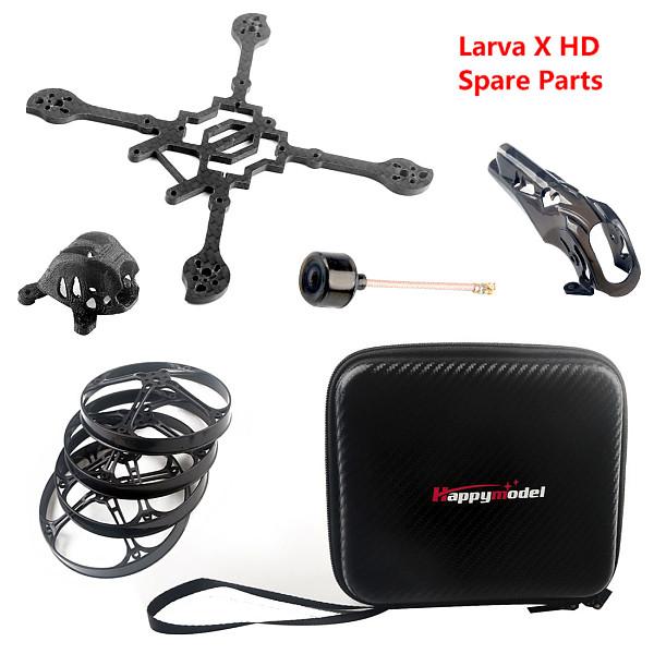 Happymodel Larva X HD FPV Drone Accessories Carbon Fiber Frame Kit Storage Handbag Propeller Guard Camera Canopy 5.8G Antenna