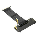 ADT-Link PCI-E x16 To x16 3.0 Male to Female Elbow Vertical Angled Riser Cable With Vertical Bracket Stand Holder Base Bracket ADT Cable