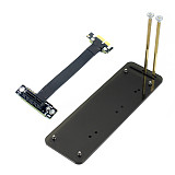 ADT-Link PCIe 3.0 x1 to x1 Extension Cable EMI Shielding 8G/bps PCI Express 1x Riser Card Extender w/ Vertical Bracket Stand Holder Base