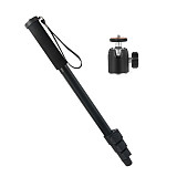 BGNING Metal Camera Monopod Professional Adjustable Monopod Stand with Mini Tripod Ball Head for DSLR Camera Video Camcorder