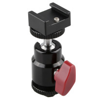 BGNING Hot Shoe Adapter 360 Degree Swivel Ball Head w Hot & Cold Shoe Base 1/4 for LCD Monitor Flash LED Light Microphone DSLR Camera