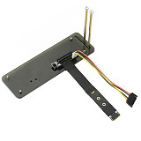 ADT-Link M.2 NGFF NVMe Key M To PCI-E 3.0 x4 adapter Card Riser Gen 3.0 Cable M2 Key M Extender Cord w/ Vertical Bracket Holder Base