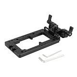 BGNING Versatile Battery Plate Double Side Support System 1/4 M3 Mount Adjustable 15mm Rod Clamp Rotatable for Power Splitter Converter