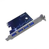 XT-XINTE PCI e Expansion Card USB3.0 HUB To PCI-E Express Card Adapter 15PIN SATA PCIe Riser Card 4port USB3.0 PCI e express 1x