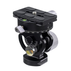 BGNING Aluminum 360 Degree Tripod Head Panoramic Photography Bird Watching Bracket With Quick Release Plate for Sirui L10 RRS MH-02