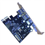 XT-XINTE PCI e Expansion Card USB3.0 HUB To PCI-E Express Card Adapter 15PIN SATA PCIe Riser Card 4port USB3.0 PCI e express 1x