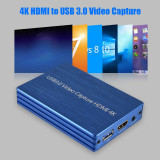 XT-XINTE Video Capture Card for HDMI 4K 1080P to USB 3.0 for OBS Live Stream Broadcast Case Pluy & Play HD Video Recorder Grabber Dongle