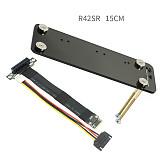 ADT-Link Riser PCIe 4 PCI-E 4x To M.2 NGFF NVMe Key M key-M Riser Card PCI Express x4 Gen3.0 Extender w/ Vertical Bracket Holder Base