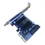 XT-XINTE Add On Cards PCIE SATA Controller PCI-E SATA Hub/Card PCIE to SATA 3 Card 5 Port SATA3 SSD PCI Express X4 Gen3 Adapter