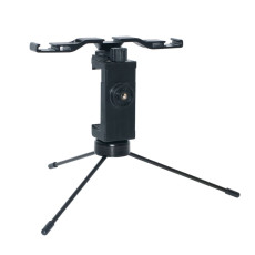 BGNING Mini Phone Tripod Tabletop Smartphone Mount Clip Holder Stand For Volg Video Live Studio With LED light Microphone stand Holder
