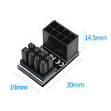 JEYI ATX 6pin/8pin Male 180 Degree Angled to 6pin/8Pin Female Power Adapter for Desktops Graphics Card