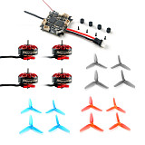 Happymodel Crazybee F4 Lite 1S Flight Controller with EX1203 1203 Motors & 65mm PC Props for Mobula 6 Tiny Whoop Mobula6 1S 65mm Brushless Whoop Drone