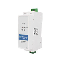 USR-DR301 Din-Rail RS232 Seriale a Ethernet Converter Piccole Dimensioni RS232 Ethernet Serial Device Server Supporta Websocket