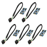 1/5PCS XT-XINTE Motherboard USB 2.0 9PIN Header Multiplier Splitter 9 Pin 1 to 2 Port HUB Extension Cable 30cm/60cm Connector Adapter