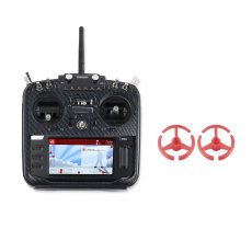 Jumper T16 Pro Hall Gimbal Open Source Built-in Module Multi-protocol Radio Transmitter with Carbon Fiber Protective Shell Front Panel & Rocker Mount