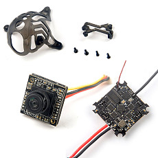 Happymodel Crazybee F4 Lite 1S Flight Controller with Runcam Nano3 FPV Camera & Canopy for Mobula 6 Tiny Whoop Mobula6 1S 65mm Brushless Whoop Drone