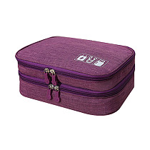 XT-XINTE Double-layer Large Capacity Portable Digital Accessories Multifunctional Waterproof Storage Box Travel Bag For USB Charger Data Cable Power Bank Headphone