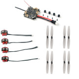 Happymodel Crazybee F4 Lite 1S Flight Controller with EX1203 1203 5500KV Motors & 65mm 2-Blade PC Props for Mobula 6 Tiny Whoop Mobula6 1S Brushless Drone