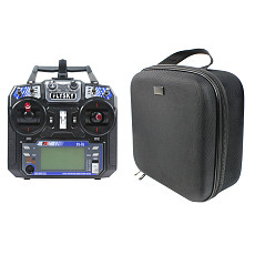 Flysky FS-i6 6CH 2.4G AFHDS 2A LCD Transmitter Radio System with Handbag Portable Case for RC Heli Glider Quadcopter DIY FPV Racing Drones