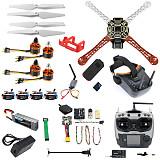 QWinOut DIY RC Drone Kit F450-V2 FPV Quadcopter with AT9S Remote Controller MINI PIX MINI GPS Q6 4K Wide Angle Action Camera FPV Watch / FPV Goggles Full Set Drone Kit