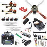 QWinOut DIY RC Drone Kit F450-V2 FPV Quadcopter with MINI PIX MINI GPS Q6 4K Wide Angle Action Camera FPV Watch / FPV Goggles Full Set Drone Kit
