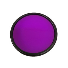 BGNING Universal SLR Camera FLD Fluorescent Purple Round Filter for 52-55-58-67-72mm SLR Camera Photography Filter Round