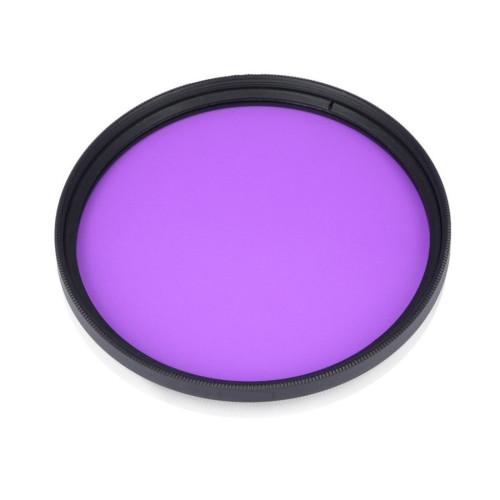BGNING SLR Camera FLD Fluorescent Purple Round Filter for 52-55-58-67-72mm NEW