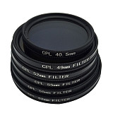 BGNING Universal Camera Lens CPL Polarizer Filter for 49-52-55-58-72-77mmCPL Polarizer