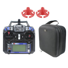 Flysky FS-i6 with Portable Case Rocker Mount 6CH 2.4G AFHDS 2A LCD Transmitter Radio System for RC Heli Glider Quadcopter DIY FPV Racing Drones