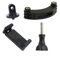 BGNing Plastic Phone Clip Holder with 1/4 Screw Extension Rod Bracket Adapter Mount Adjustable Portable Camera Accessory For GoPro Action Camera