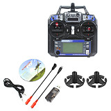 JMT Flight Simulation Kit 22 in 1 Simulator with FS I6 Transmitter & Remote Controller Rocker Mount for Aircraft Helicopter