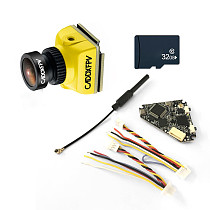 Caddx Baby Ratel Mini FPV Camera 1200TVL with NameLessRC D400 VTX+DVR AIO 48CH Raceband & 32G Memory Card for FPV Racing Drone RC Quadcopter