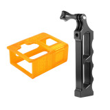 BGNing Aluminum Alloy Handle Tripod Mount Single Handheld Monopod Bracket with 3D Print TPU Protective Case for Gopro Hero 8 Action Camera