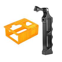 BGNing Aluminum Alloy Handle Tripod Mount Single Handheld Monopod Bracket with 3D Print TPU Protective Case for Gopro Hero 8 Action Camera