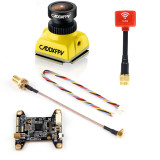 Caddx Baby Ratel Mini FPV Camera Super Night Version 14*14mm with Atlatl HV V2 5.8G 40CH VTX & Lollipop 3 Antenna for FPV Racing Drone