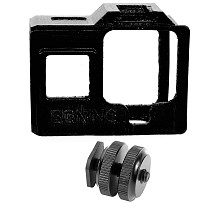 BGNing 3D Print Camera Protective Case with Aluminum Mini 1/4 Cold Shoe Seat for Gopro Hero 8 Action Camera