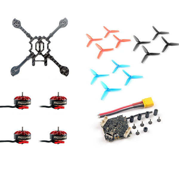 Happymodel DIY Larva X HD FPV Racing Drone Accessories Kit 125mm Frame Kit Crazybee F4 PRO V3.0 Flight Controller EX1203 1203 6200KV Motors 65mm 3-Blade Props