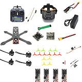 QWinOut T220 DIY FPV Racing Drone RC Quadcopter RTF with Flysky S-i6 Remote Controller F3 Flight Control 700TVL Camera 2204 2300kv 2-3s Motors FPV Goggles Unassemble