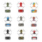 Sunnylife Waterproof PVC Stickers Decal Skin Cover Protector for DJI Mavic Mini Drone Body Arm RC Protective Film