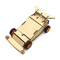 Feichao Wooden 4WD (with wooden shell) Electric Trolley Student Steam Education DIY Manual Assembly Toy Car