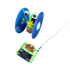 Feichao Remote Control CD Balance Car DIY CD Car Waste Utilization Technology Production Scientific Invention