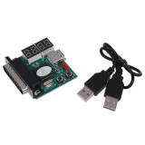 XT-XINTE Computer 4-Digit Laptop PC Motherboard USB and PCI Diagnostic Analyzer Display t Post Card Tester for Laptop PC Main board