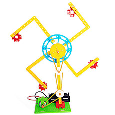Feichao Technology Production Electric Ferris Wheel Spinning Windmill Toy Set Scientific Manual Physics Experimental Material​s