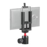 BGNING Mini Tripod Ball Head 360 Swivel Ballhead with Adjustable Universal Mobile Phone Clip Clamp Holder for Smartphone