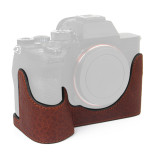 BGNING Half Sleeve Leather Base Camera Bag Micro Single A7R4 Half Sleeve Head Leather for Sony A7R4
