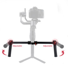 BGNING Dedicated Dual Handheld Bracket Two-Handed Gimbal Stable Aluminum Alloy Bracket for DJI Ronin-S​