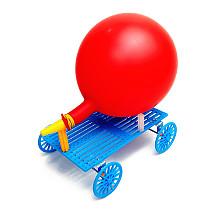 Feichao DIY Hand-made Smart Development Balloon Recoil Car model Scientific Experiment Technology Car Model For Kids