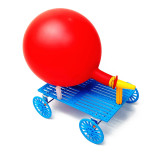 Feichao DIY Hand-made Smart Development Balloon Recoil Car model Scientific Experiment Technology Car Model For Kids